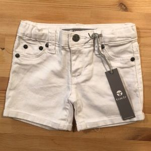 NWT Tractr White Denim Shorts